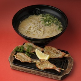 BBQ Shrimp Ramen<br>鐵板串燒蝦拉麵