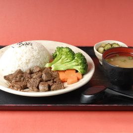 Beef Tenderloin &#038; Blk Pepper Rice Set<br>黑椒牛柳粒飯定食