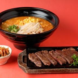 Kimchi Steak Teppanyaki Ramen<br>泡菜鐵板牛排拉麵