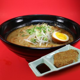 Spicy Miso Pork Cutlet Ramen<br>辣面豉吉列豬排拉麵