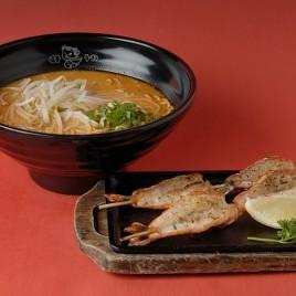 Tom Yum BBQ Shrimp Ramen<br>冬蔭功串燒蝦拉麵